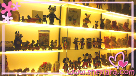 [Rows and rows of old toys]