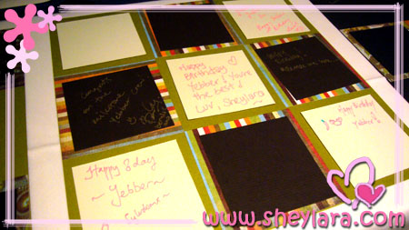 [Party guestbook]