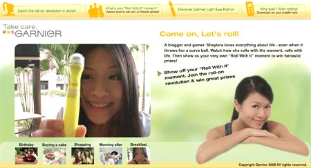 Garnier Roll With It Campaign